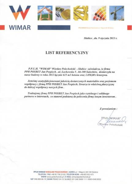 Referencje WIMAR